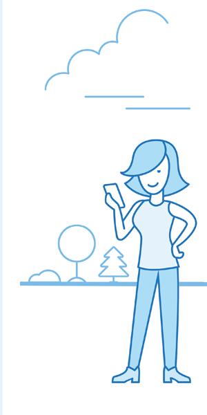 Grafik Frau mit Smartphone in der Hand